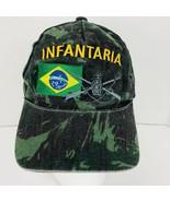 USAF INFANTARIA Camo Hat Embroidered Foot Soldier Cap Adjustable Broken In  - $34.64