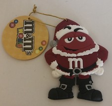 M&M's World Christmas Ornament Red Santa New with Tag - $8.72