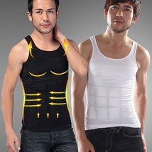 Men Slim Body Shaper Waist Abdomen Underwear Less Beer Belly Compression... - $50.00