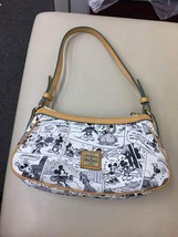 DOONEY & BOURKE Bag Mickey Mouse Comic Pattern Tote Bag Hand Pouch Pochette - $135.63