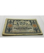 GERMANY LOT OF 10 BANKNOTES 20 MARK 1915 VERY RARE CIRCULATED NO RESERVE - $46.36