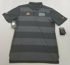 new Nike men shirt NFL Cincinnati Bengals AR6788-060 dri-fit black grey ... - $39.59