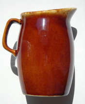 Hull Pottery Brown Drip Glaze Creamer & Syrup Pitcher 4.5 in tall  Oven ... - $8.00