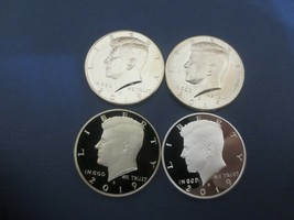 2019 - S PROOF, D, & S clad plus the SILVER PROOF Kennedy HALVES. - $36.75