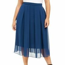 $139 NEW! ANNE KLEIN women's long chiffon teal blue maxi skirt plus size 2x - $137.61