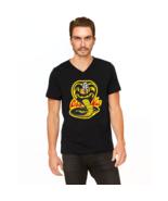 Cobra Kai Karate Kid Merchandise Retro No Mercy Graphic Tee V-Neck T-Shirt - $18.80+