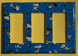 Peanuts Snoopy Woodstock Light Switch Power Outlet Wall Cover Plate Home Decor image 8