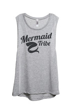 Thread Tank Mermaid Tribe Women's Sleeveless Muscle Tank Top Tee Sport Grey - $24.99+