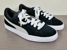 Puma Suede PS Classic Kids Sneaker, Black Suede, Big Kid Size 6 / 38 - $22.49