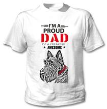 Scottish Terrier - Im A Proud Dad - New Cotton White Tshirt - $24.02