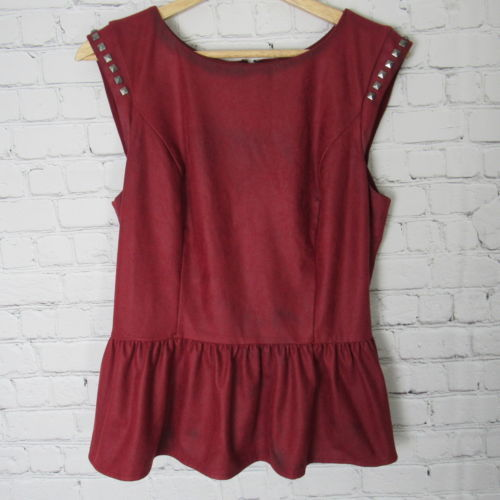 Guess Blouse Shirt Top Womens Large L Red and 50 similar items