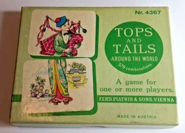 Original Vintage Boardgame Tops and Tails around the World #4367 Made in Austria - $19.30
