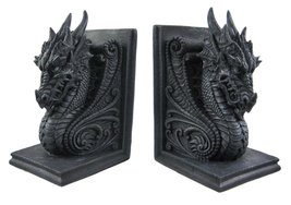Private Label Gothic Dragon Bookends Midieval Book Ends Evil Medieval 8266 - $35.99
