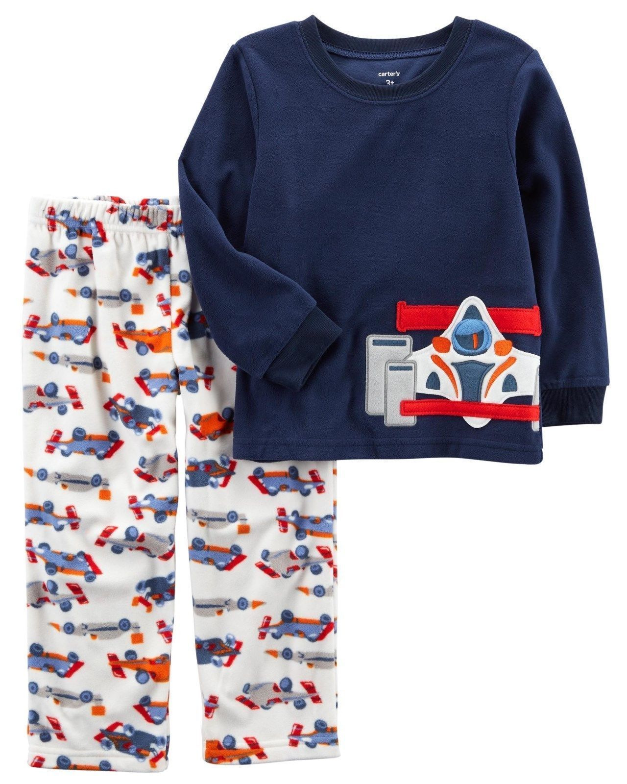 28f3741db Carter's Boys 2-Piece Fleece Pajama Set , Navy, Size 4T - $17.81