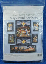Silent Night Nativity Single Panel Art Quilts Top Kit  - $56.06