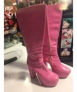 70's Pink Go Go Boots - Size 6 (0399) - $57.03