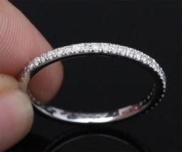 0.15Ct Round Diamond Full Eternity Engagement Band Ring In 14k White Gol... - $59.84