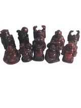 Set Of 10 Miniature Buddha Brown Figurines Statues - $14.01