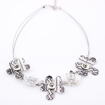 Spring style Flowers necklace New 2016 iron fashion stone necklace & pen... - $15.09