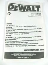 De Walt DCD991 DCD996 User Manual Oem - $7.15