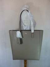 NWT Tory Burch Gray Heron Saffiano Leather Robinson N/S Large Tote - $39... - $374.22