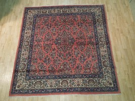 Fine Persian Sarouk Rug Home Decor Oriental Hand Knotted Rug 7x8 ft - $1,310.40