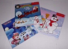 3 Advent Calendar with Stickers Year Santa Claus Town Frosty Snowman Bro... - $15.83