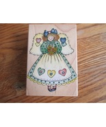 Rubber Stamp:  Heart Patch Angel Paper Craft - $7.77