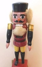 "Vintage Nutcracker Prince Red Jacket Wood 12.5"" - $28.40"