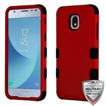 Natty Red/Black TUFF Hybrid Case for SAMSUNG Galaxy J3 V 2018/Star/Achieve - $12.23