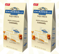 2 Ghirardelli White Chocolate Caramel Squares New Limited Edition Bag 6 Oz - $21.62