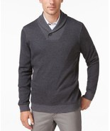 Tasso Elba Men's Classic Fit Shawl-Collar Sweater Grey Size X-Large - $49.30 CAD