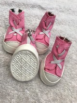 Dog Shoes Size S Pet Puppy Clothing Light Pink White Trim Tennis Style Z... - $16.03