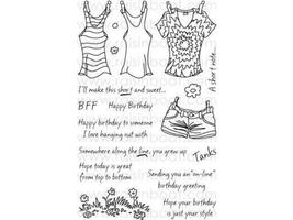 Raisin Boat Short and Sweet Clear Stamp Set #10245