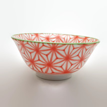 Miya Company Red Orange Design Rice Bowl - $11.64