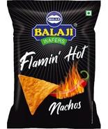 Balaji Wafers Flamin Hot Nachos 45 grams 1.58 oz pack India Vegetarian N... - $3.95+