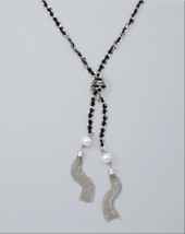 RIBBON WOVEN TASSEL NECKLACE - $9.99
