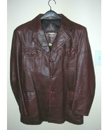 Vint Mens DARK BROWN LEATHER Casual Jacket by Marquis of London Canada M... - $33.94