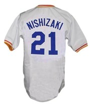 Yukihiro Nishizaki Nippon-Ham Fighters Baseball Jersey White Any Size image 2