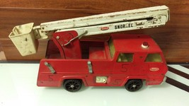 Vintage 1970s Tonka Fire Truck Red Extendable Snorkel Bucket - $28.51