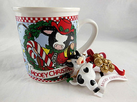 Mug Enesco Mary Rhymes Nadig Mooey Cow Christmas 1997 Vintage cup - $11.87