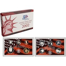 2002-S 90% Silver Proof Set United States Mint Original Government Packa... - £40.26 GBP