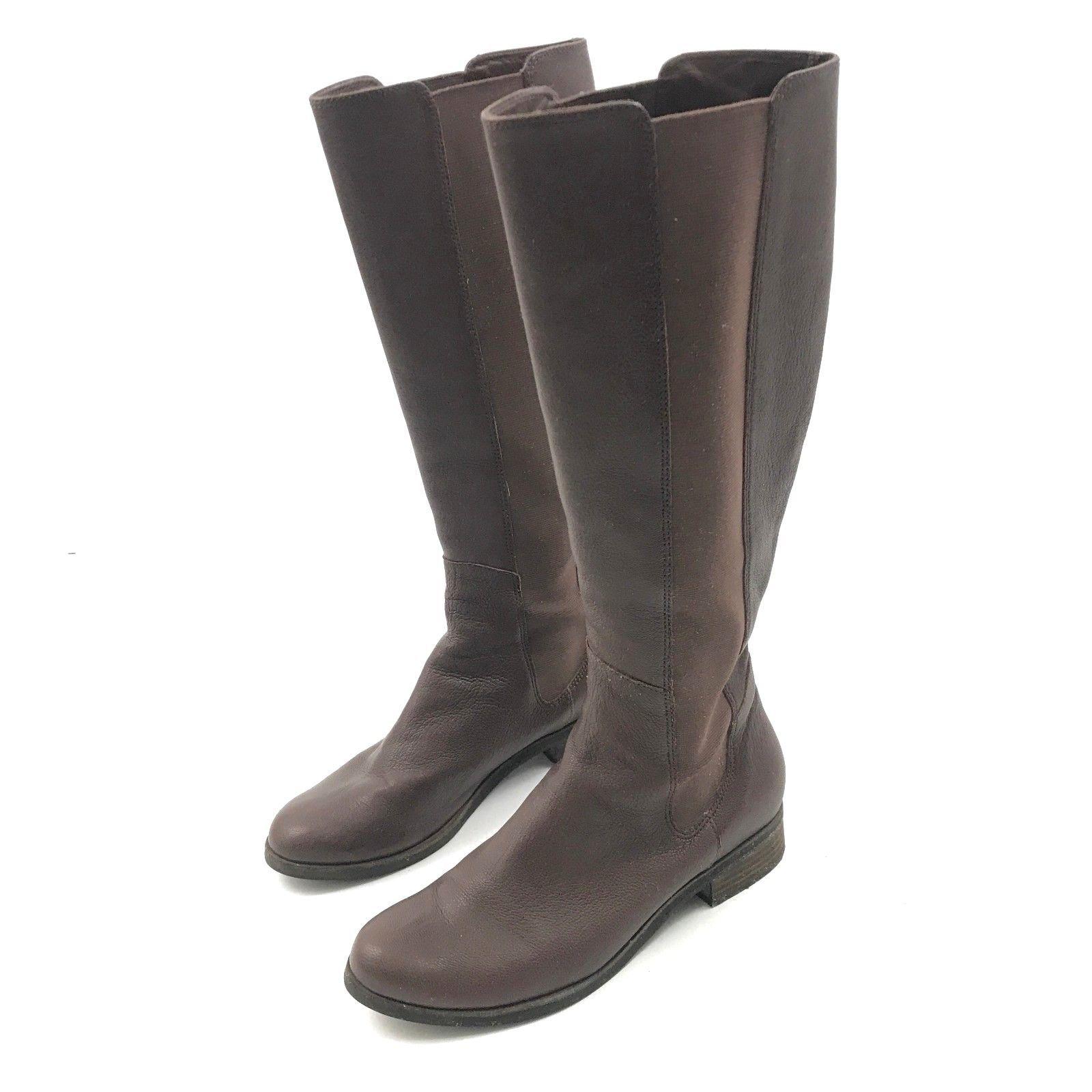 bd48c4ade7d7 Cole Haan Nike Air Boot. In stock 57. Cole HAAN Bottes Hauteur Genou Femme  9.5 B Cuir Brun Extensible Côtés Talon -  54.51