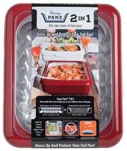 Fancy Panz 2 In 1 Red Casserole Portable Serveware Potluck Catering Serv... - ₨2,158.53 INR