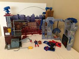 Lot 3 Spiderman Playsets Sky Rider Flip N Trap Alleyway Toy Biz Marvel V... - $82.79