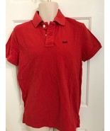 NWT Abercrombie by Hollister Mens Polo Shirt Slim Fit RED, MEDIUM - $26.91