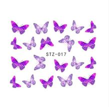 HS Store - 1 sheets STZ-017 Nail Art Stickers Decorations Butterfly Bow ... - $2.32