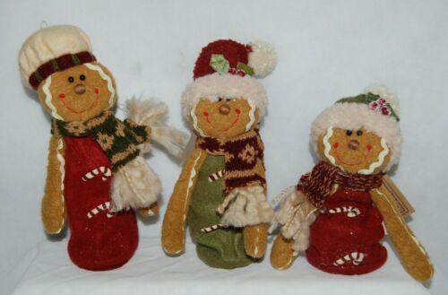 Hannas Handiworks 27148 Stretch Gingerbread Man 3 Set Christmas Ornament