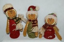 Hannas Handiworks 27148 Stretch Gingerbread Man 3 Set Christmas Ornament image 1