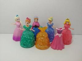 Disney Princess Magic Clip Glitter Glider doll lot Frozen Anna Elsa Cind... - $54.44